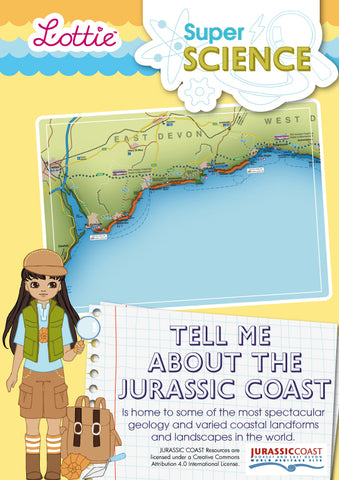 Tell me about the Jurassic Coast factsheet for kids