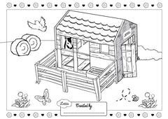 Toy Horse Stables Colouring Sheet