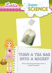 Turn a tea bag into a rocket activity for kids