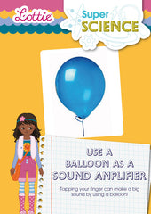 Use a balloon as a sound amplifier activity for kids
