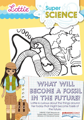 What will become a fossil in the Future? Activitiy for kids