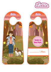 Walk in the Park Lottie printable Door Hangers