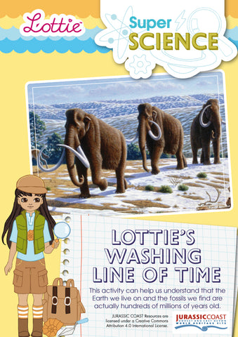 Lottie's Washing Line of Time activity for kids