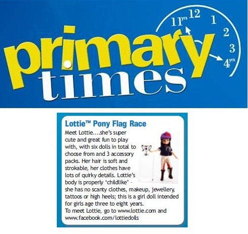 Lottie dolls in the Primary Times Ireland