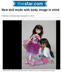 Lottie dolls in the Toronto Star