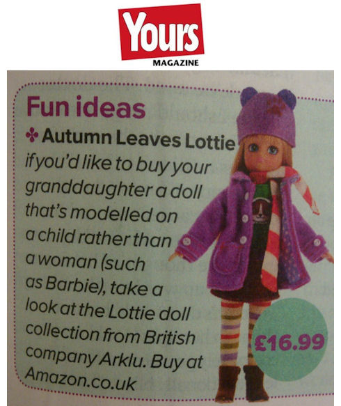 Autumn Leaves Lottie in Yours Magazine