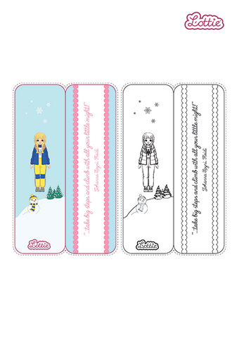 Snow Day Lottie Bookmark