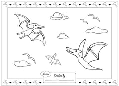 Fossil Hunter Lottie colouring page