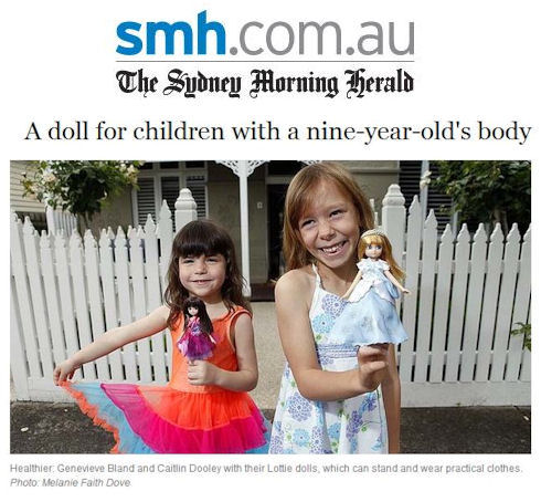 Lottie dolls press coverage in the Sydney Morning Herald