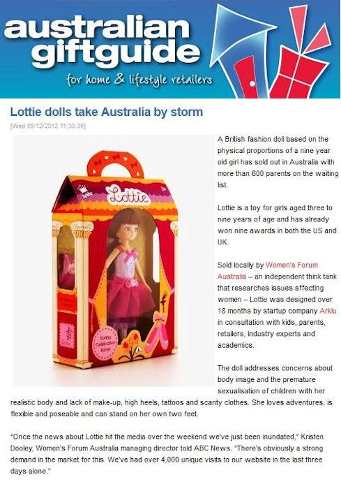 Lottie Dolls in the Australian Gift Guide