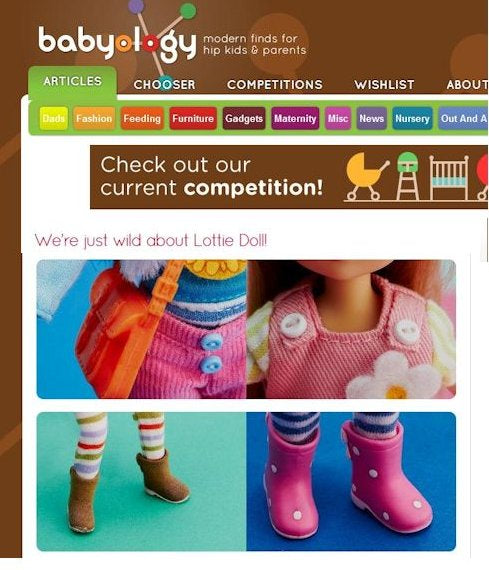 Lottie Dolls on Babyology parenting website Australia