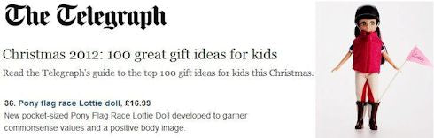 Lottie Dolls feature on the Telegraph Christmas Gift List