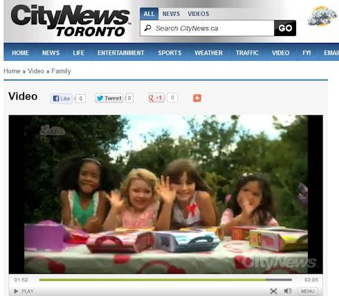 Lottie Dolls on CityNews TV in Toronto, Canada