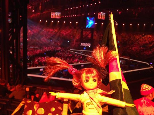 Where's Lottie? Having fun at the Eurovision Song Contest in Denmark