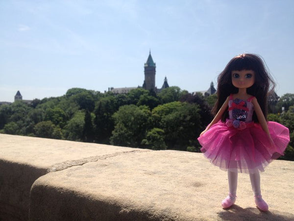 Where's Lottie? Visiting Luxembourg Castle in Luxembourg