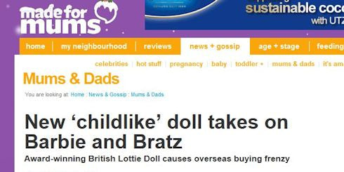 Lottie Dolls in Made For Mums parenting website