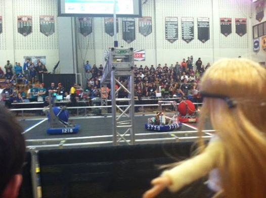 Where's Lottie? At a robotics competition