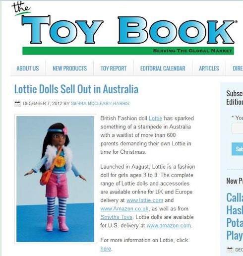 Lottie dolls in ToyBook