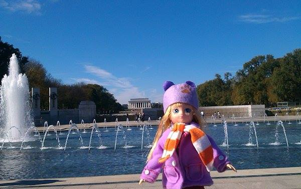 Where's Lottie? Visiting the Lincoln Memorial in Washington DC, USA