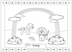 Muddy Puddles Lottie colouring page