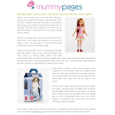 Lottie dolls on Mummy Pages