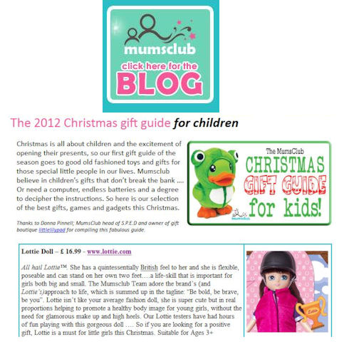 Pony Flag Race Lottie doll on the Mumsclub Christmas Gift Guide for Kids