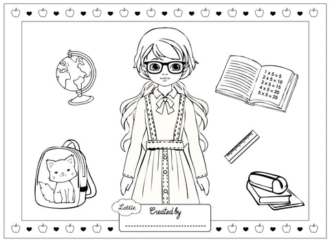 School Days Lottie colouring page