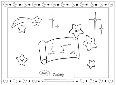 Stargazer Lottie colouring page