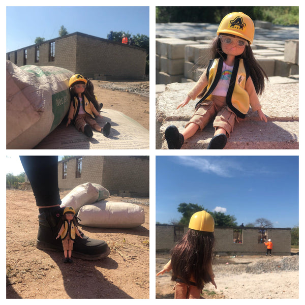 fossil hunter lottie doll collage in malwai