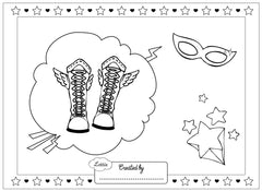 Super Lottie colouring page