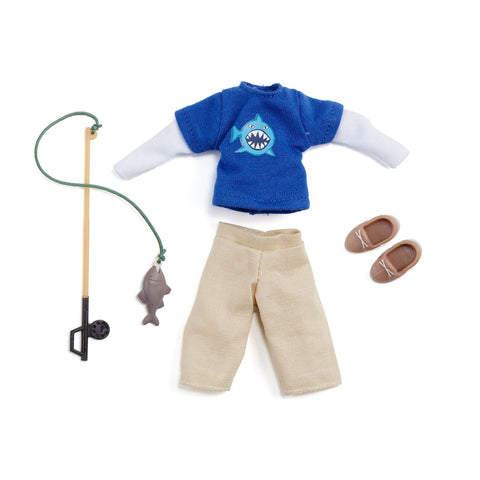 Gone Fishing Finn Outfit Set - Lottie Dolls  - 1