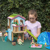 Lottie Dolls Wooden Dollhouse Treehouse Playset, with Slide & Swing