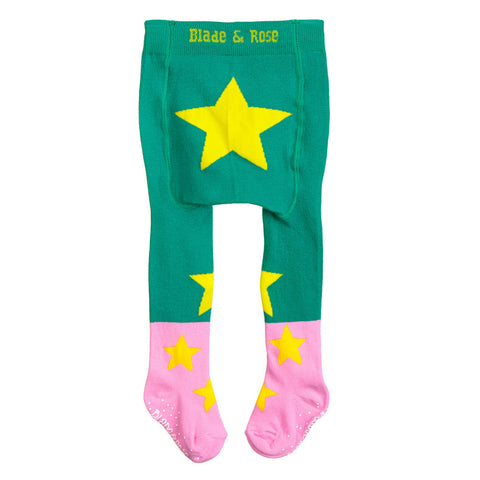 Peppermint Green Star Tights