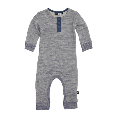 Baby Body Suit - Steel Blue Melange