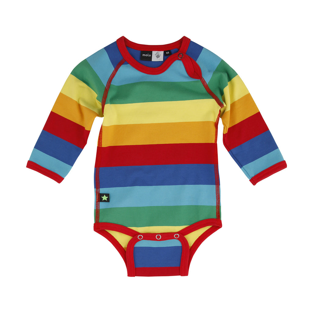 Original MOLO Baby Body Rainbow Stripe My Baby Edit