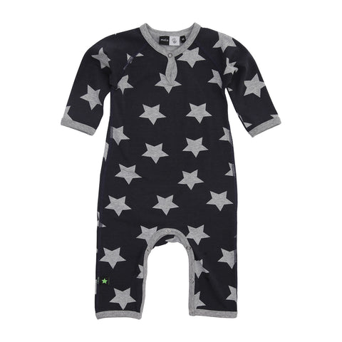 Baby Body Suit - Dark Melange Star