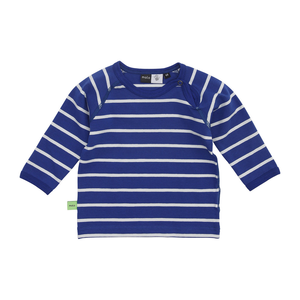 Original MOLO Sweat Shirt Blue Print Stripe My Baby Edit