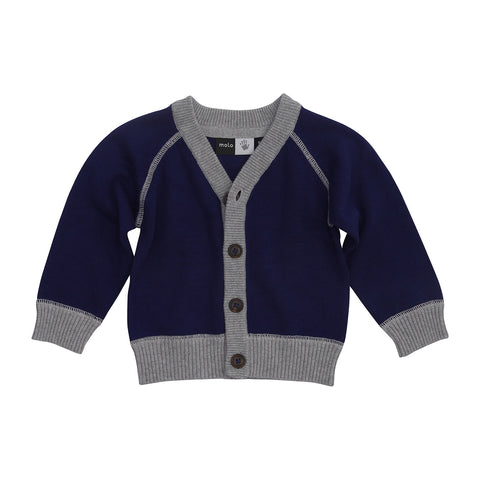 Knitted Cardigan - Deep Blue