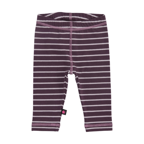 Soft Leggings - Plum Stripe