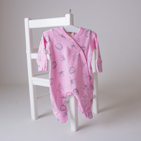 Original Baby Acorn Baby Grow Strawberry Woodland lifestyle