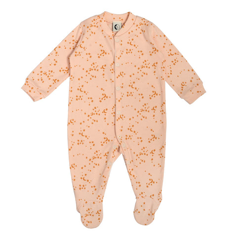 Morris Star Peach and Yellow Stars Romper