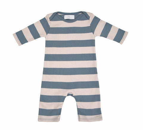All in One Baby Body - Slate & Stone Stripe