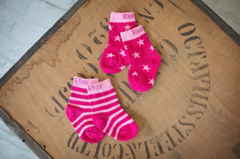 Original Blade & Rose Raspberry Pink Cupcake Socks MyBabyEdit