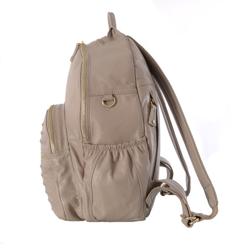 Original Kerikit Real Leather XL Grey Joy Backpack Side My Baby Edit