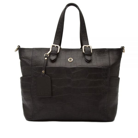 Francis Black Leather Changing Bag