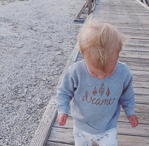 Original Buffalo & Bear grey Dreamer Sweatshirt My Baby Edit