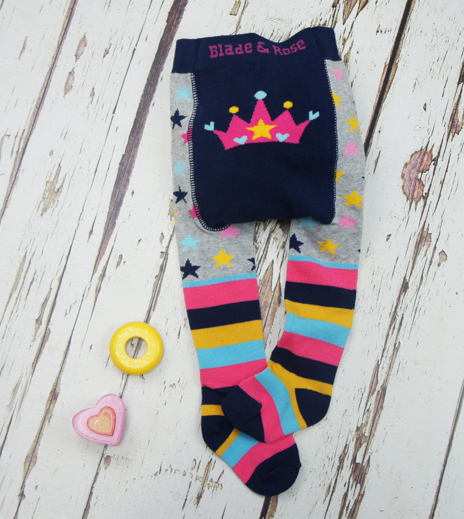 Crown Baby Tights