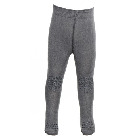 Grey Melange Crawling Tights
