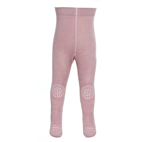 Original GoBabyGo crawling tights Dusty Rose Front MyBabyEdit
