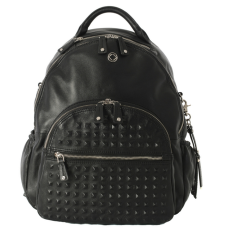 Joy XL Black Stud Leather Changing Bag